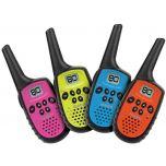 4 Pack Uniden Uh35 UHF CB Handheld 80ch Radio Walkie Talkie + 4 Belts
