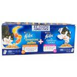 48 x 85g Felix Sensations Jellies Cat Food Pouches