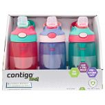Contigo Kids Autospout Water Bottles 3 Pack Girls