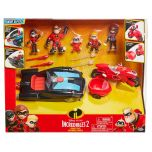 Disney Pixar Incredibles 2 Family Pack with Super Vehicles