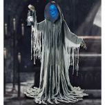 Halloween Looming Phantom Animated Motion Sensor LED Sound 1.9m Skeleton