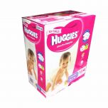 Huggies Ultra Dry Nappies Crawler 184 Disposable Girl Size 6-11kg