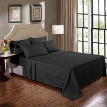 Kensington 1200TC Ultra Soft 100% Egyptian Cotton Sheet Set In Stripe Graphite Double