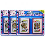 3 x 2 Packs Vegas Style Playing Cards Plastic Coated
