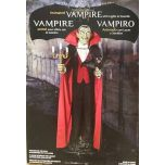 Halloween Prop Motion Animated 180cm Vampire Butler Bat LED & Sound Talks
