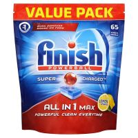 5 x Finish Powerball Max In One Lemon Sparkle 50 Tablets (Total 250 Tablets)