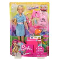Barbie Travel Lead Doll & Accessories