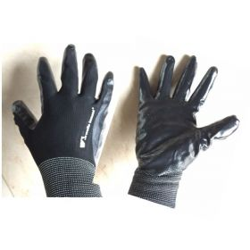 12 Pairs Wells Lamont Men's Large Nitrile Coated Work Gloves Black Size: L