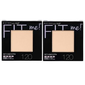 2 X Maybelline Fit Me Set & Smooth Pressed Powder Classic Ivory