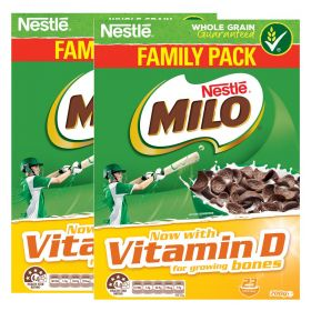 2 x Nestle Milo Whole Grain Cereal 700g