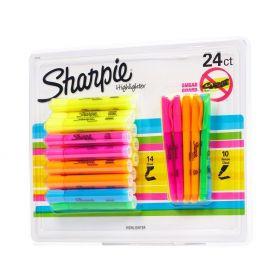 24 SHARPIE Highlighter Set 14 Chisel Tank Style
