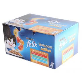 36 x 85g Felix Sensations Jellies Cat Food Pouches