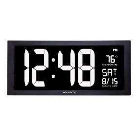 Acurite Large LED Digital Calendar Wall/Tabletop Clock With Indoor Temperature
