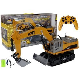 Alloy Excavator Digger and Bulldozer 2.4G 14ch R/C