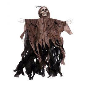 Animated GRIM REAPER With Sound and Led EYES Hanging Halloween Decoration