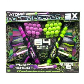Atomic Power Popper Dual Battle Pack With 84 Ammo Balls