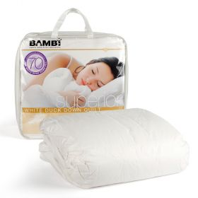 Bambi Superior White Duck Down Single Size Quilt