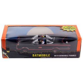 Batmobile With Bendable Batman & Robin Figures