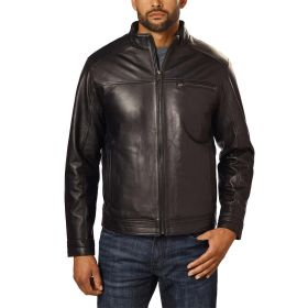 Boston Harbour Men's Leather Jacket Black
