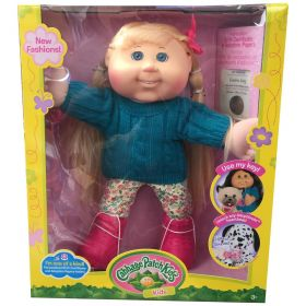 Cabbage Patch Kids 14 inch Kids Green Sweater