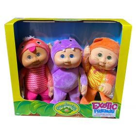 Cabbage Patch Kids Exotic Friends Collectibles 3 Pack