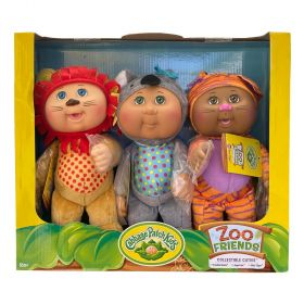 Cabbage Patch Kids Zoo Friends Collectibles 3 Pack