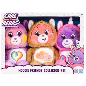 Care Bear Snuggle Hoodie Friends 3 Pack Collector Set
