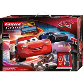 Carrera Go Disney Pixar Cars Neon Lights Slot Car Playset