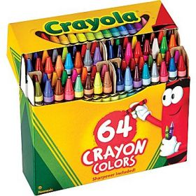 Crayola Classic 64  Crayon Colour Pack