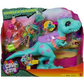 Cave Club Rockelle & Tyrannosaurus & Doll Playset