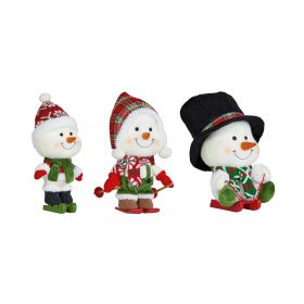 Christmas Snowmen Figures 3 Pcs Set