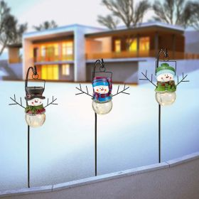 Christmas Solar LED Lighting Set of 3 Snowmen