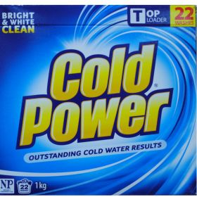 Cold Power Laundry Powder Top Loader 1kg