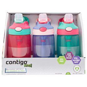 Contigo Kids Autospout Water Bottles 3 Pack Girls