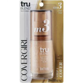 COVERGIRL truBlend Liquid Foundation Makeup Golden Beige M3 30ml