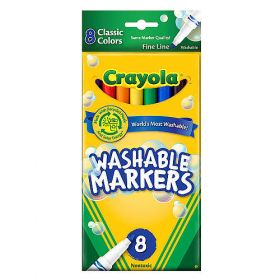 Crayola Fine Line Washable Markers Pack of 8