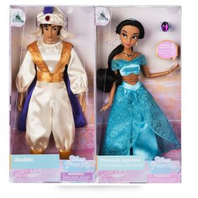 "Disney Classic 12"" Aladdin And Jasmine Authentic Doll Set"