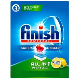 Finish All In One Powerball Lemon 120 Tabs