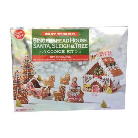 Gingerbread House Kit With Santa, Sleigh and Tree 1.67kg