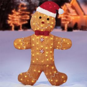 Gingerbread Man With 150 LED Lights 58 Inch