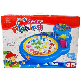 Go Go Fishing Game With Double Rotating Fish Pool