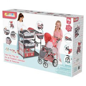 Hauck Twin Doll Stroller and Bunk Beds Play Center