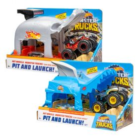 Hot Wheels Monster Trucks Pit and Launch Playset Assorted