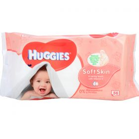 Huggies Baby Soft Skin Wipes 56pk