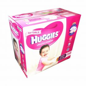 Huggies Ultra Dry 148 Toddler Girls Disposable Nappies 10-15 kg