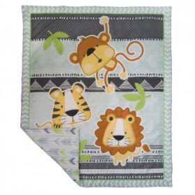 Living Textiles Coverlette Cot Quilt - Jabali - 94 x 113 cm