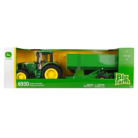 John Deere 6930 Big Farm Tractor With Wagon 1:16 Scale