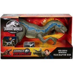 Jurassic World Dino Rivals Super Colossal Velociraptor Blue