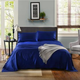 Kensington 1200TC Ultra Soft 100% Egyptian Cotton King Bed Sheet Set In Stripe Indigo