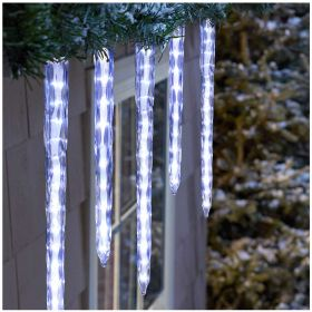 LED Cascading Moulded Icicle Lights